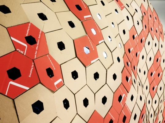 Make Architects Unveil Igloo-Shaped Cinema Made from Reclaimed Cardboard in London