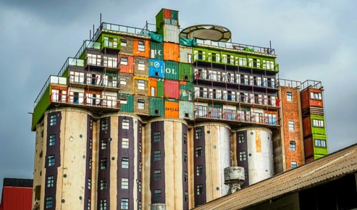 Silos Topped With Stacks of Shipping Containers Provide Cheap Student  Housing in South Africa | Inhabitat - Green Design, Innovation,  Architecture, ...