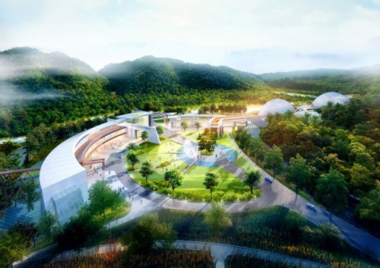 Samoo Architects & Engineers, National Research Center for Endangered Species, South Korea architecture, Korean architecture, research centers Korea, green architecture, master plan Korea, green master plan, green research center, Endangered Species Korea, Endangered Species, research center Endangered Species Yeongyang-gun