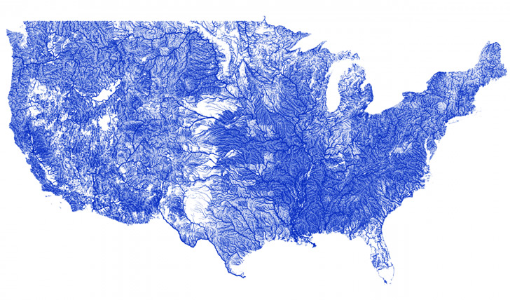 Gorgeous Interactive Map Shows Every River In The Continental US - Interactive map us watershed