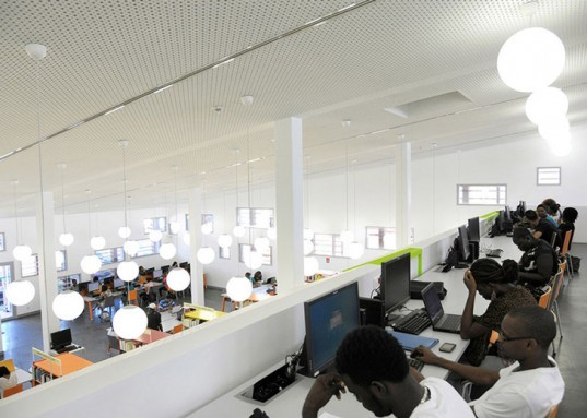 RH+Architecture library, university library french guiana, french guiana architecture, timber architecture, timber lattice, Rectorat de Guyane, paris architects, natural ventilation, passive sustainability