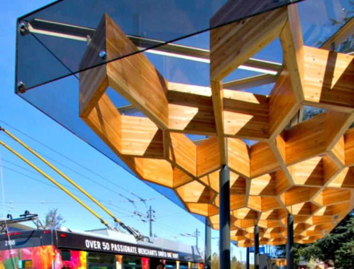 Tessellated Tree Like Transport Shelters Offer Unique Shade For Local  College Students | Inhabitat   Green Design, Innovation, Architecture,  Green Building
