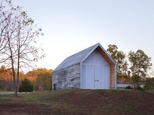 The Shed, Hufft Projects, prefab shed, prefab barn, barn, green barn, green shed, reclaimed wood, prefab construction