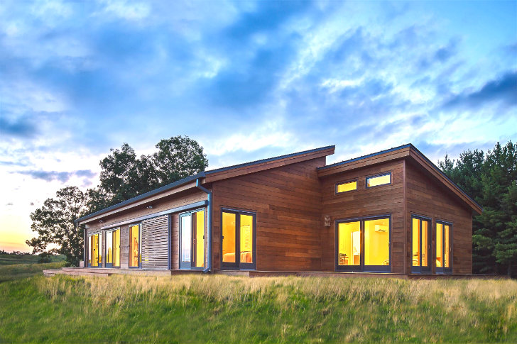 blu homes unveils a balance prefab for frank lloyd wright