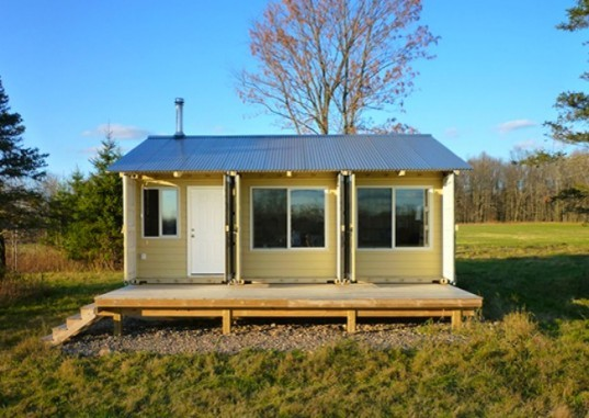 Man Builds Cozy Tin Can Cabin Out Of Shipping Containers