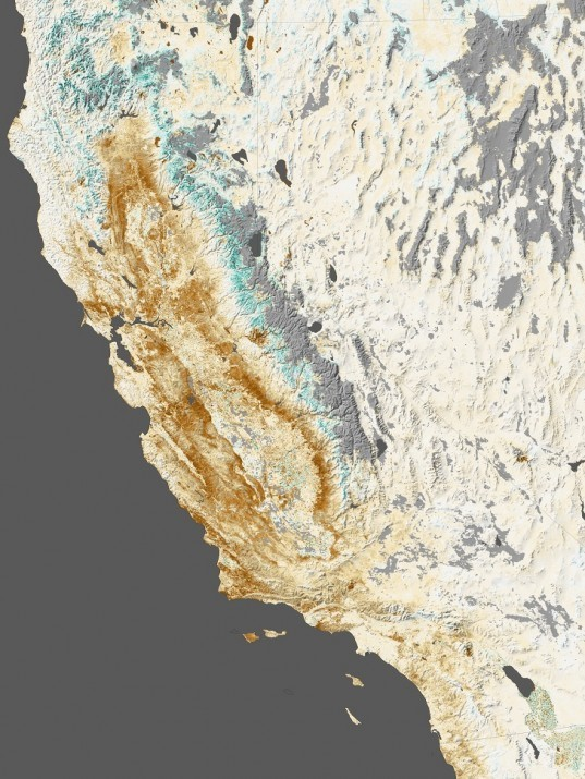 California, drought, dry, water, rain, snow, green, brown, record, NASA, space, satellite image, Moderate Resolution Imaging Spectroradiometer , Terra, Aqua, climate change, global warming, Obama