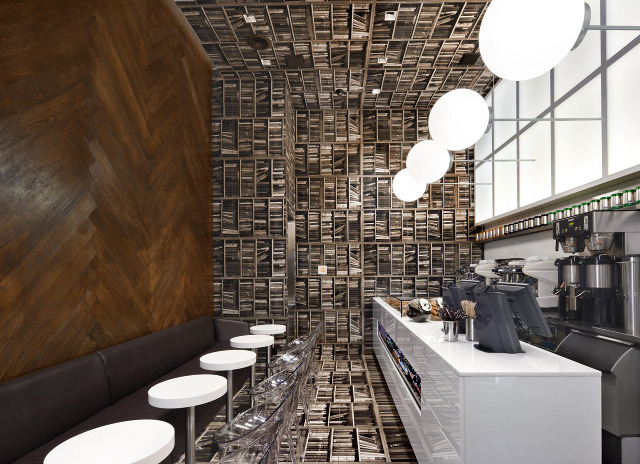 Step Inside The Trippy Book Lined Interior Of Despresso Cafe In NYC