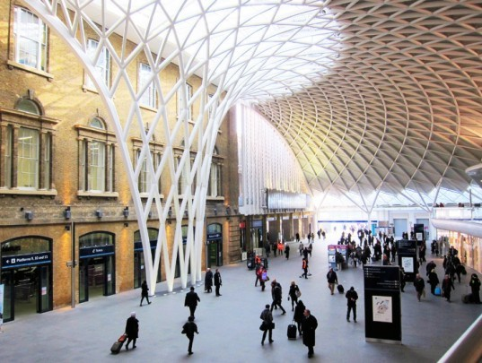 Kings Cross Railway, london, kings cross renovation, train station, railway station, urban design, infrastructure, transportation infrastructure, transportation hub, green transportation, sustainable transportation, railway, train travel, Britain
