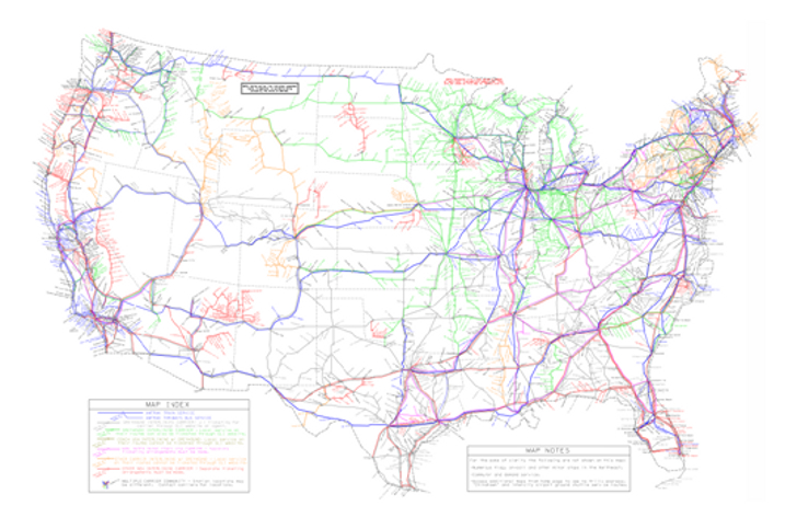 Map Shows How To Travel Across America Without A Car Inhabitat - Amtrak us map vacations scenic