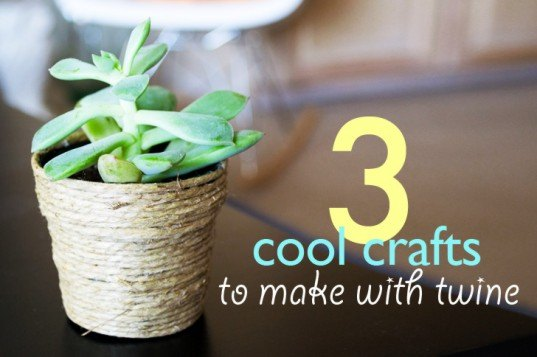 DIY: 3 Cool Crafts to Make with Household Twine