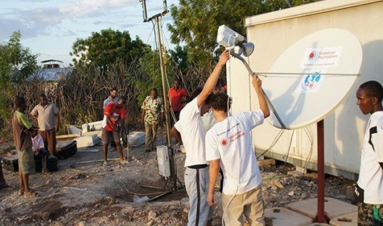 disaster relief, instant network, instant network mini, vodafone, vodafone foundation, cellular network, portable satellite network, cell phone network, communications infrastructure