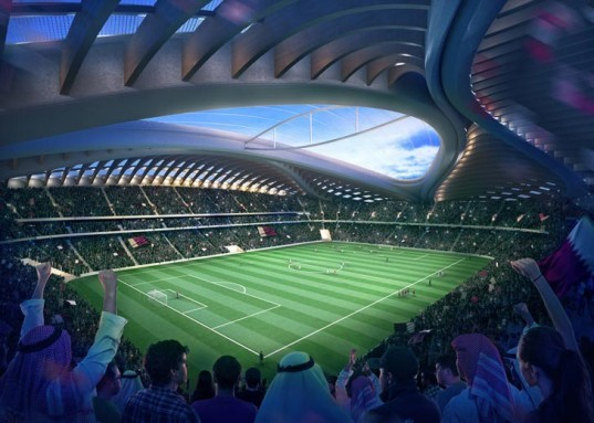 zaha hadid, qatar world cup, construction deaths, architect liability, al wakrah stadium, qatar 2022 world cup stadium, world cup stadium, yonic architecture, indian migrant workers, migrant worker deaths, migrant workers, qatar labor laws, world cup construction,