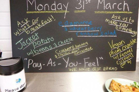 P.A.Y.F ('Pay As You Feel'), Adam Smith, UK's first 'expired' meals cafe, freeganism, Leeds, Sustainable Food, News