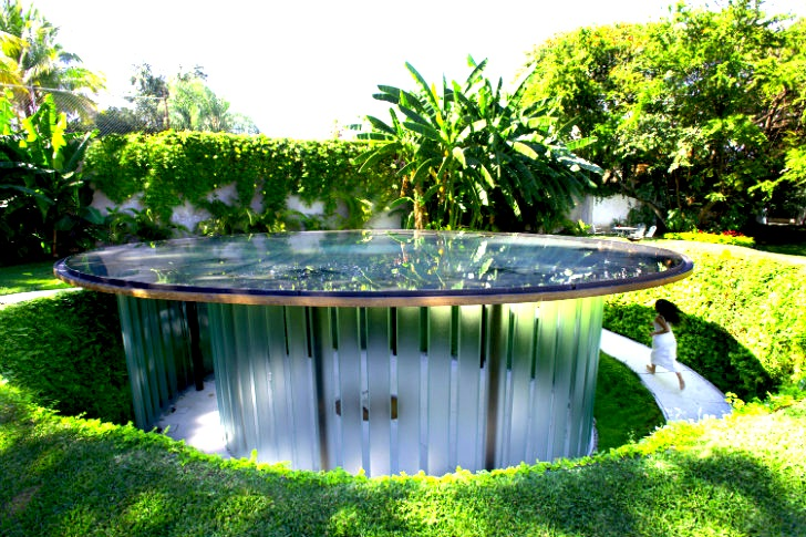 Lush Green Walls Protect a Pond-Topped Sunken Chapel in Mexico ...
