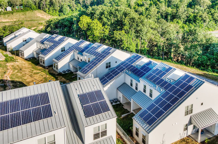 Solar-Powered LEED-Certified Fairmount Avenue Townhomes