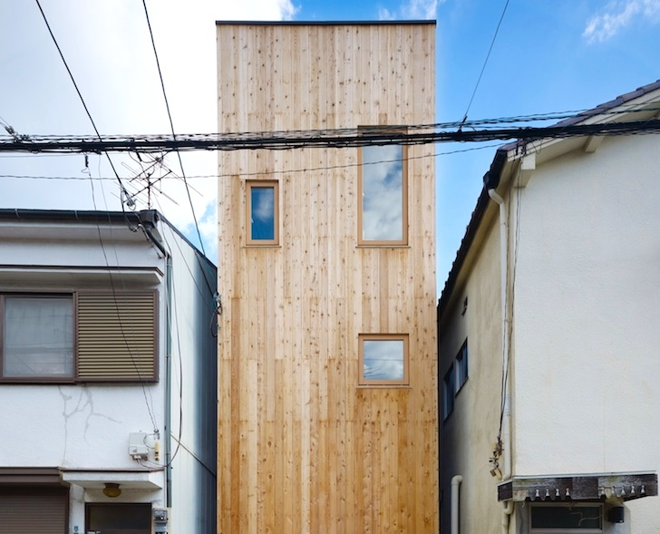 Fujiwarramuro Architects Squeeze Skinny Light-filled Nada House into on tall skinny building in japan, houses in tokyo japan, narrow house interior design, micro houses in japan, small apartment building in japan,