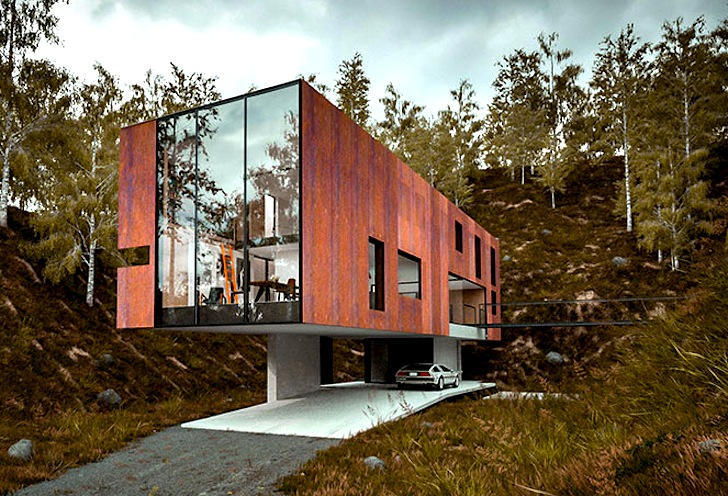 Rugged Corten Steel Clads Minimalist House For A