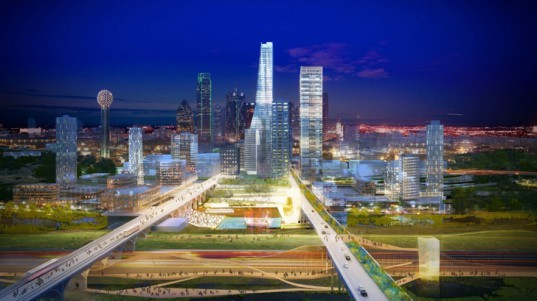 'Hyper Density Hyper Landscape' is a Vibrant Green-Grid Master Plan for Dallas, Texas