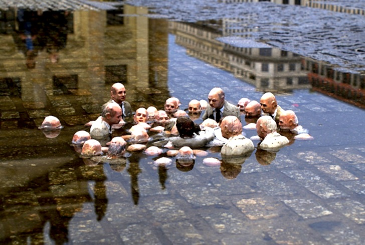 Artist Isaac Cordal's Incredible Tiny Sculptures Offer a Chilling View of Climate Change