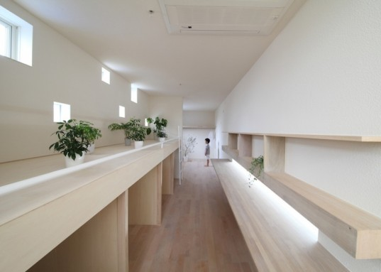 Katsutoshi Sasaki + Associates, japan, imai house, skinny house, micro house, narrow house, minimalist home, narrow homes, natural light, roof terrace, double height living room, indoor patio, flexible programming