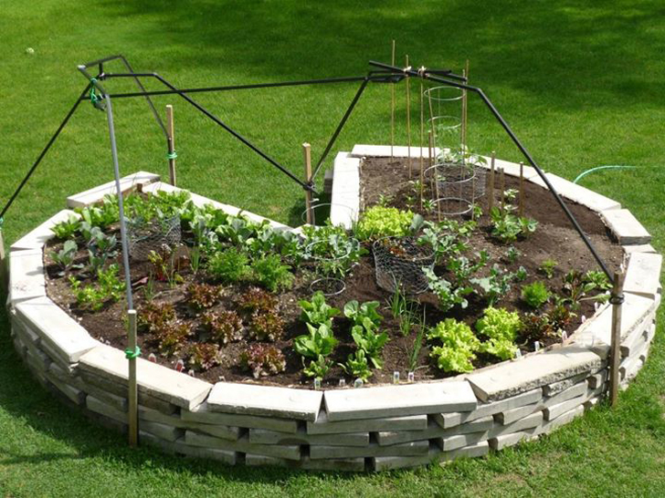 Keyhole Gardens Can Maximize Growing Space and Make Harvesting