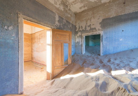 The Sands of the Namib Desert Swallow an Abandoned Mining ...