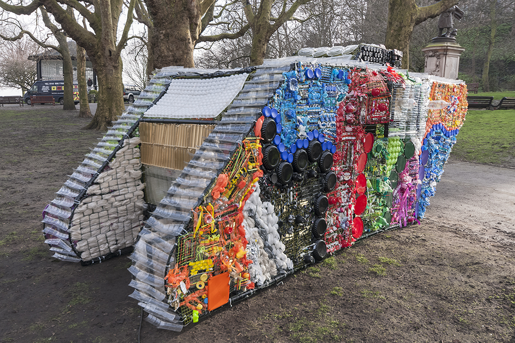 Sarah turner creates a life sized recycled wwi tank from for Household waste design