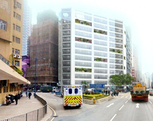 MVRDV, Cheung Fai Conversion, Hong Kong, architecture, urban design, adaptive reuse project, East Kowloon project, Wai Yip Street, the Kwun Tong district, urban renovation,
