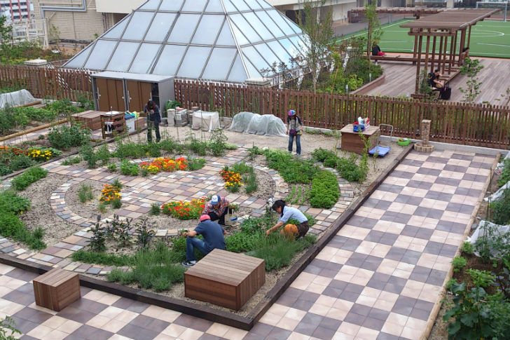 Rooftop Farms On Japanese Train Stations Serve As Community Gardens