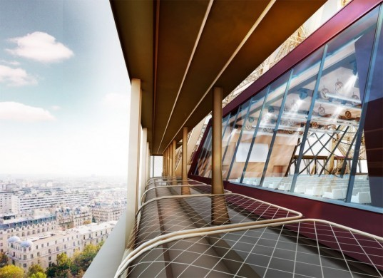 Moatti-Rivière architects, Eiffel Tower renovation, first floor eiffel tower renovation, architecture, energy efficiency, solar power, wind power, hydraulic power, sustainable renovations, paris icons, Paris, France, French architects