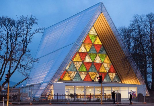 Shigeru Ban Christchurch Cathedral, New Zealand, eco architecture, green architecture, cardboard church, cardboard architecture, disaster relief architecture