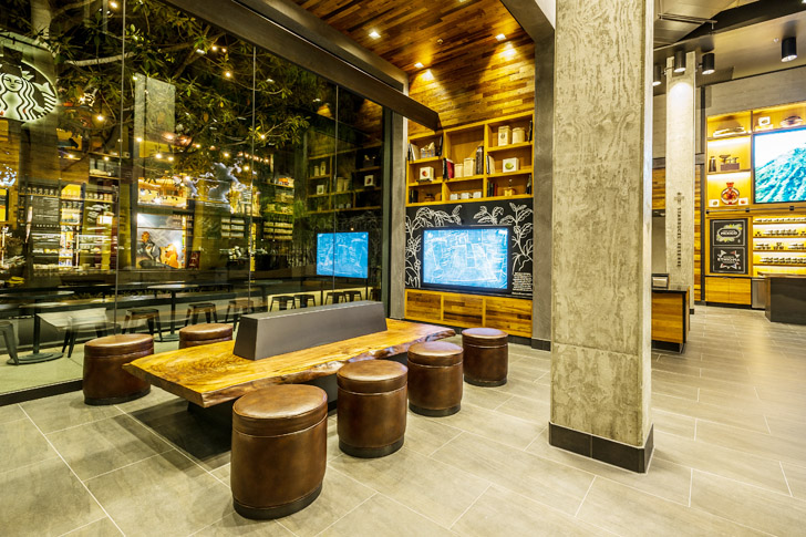 starbucks opens first leed certified store in downtown