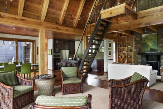 HK Architects, HK Architects, Tennessee architecture, rustic architecture, Tellico cottage, Tellico cabin, modern cabins, modern fishing cottages, natural building materials, timber architecture