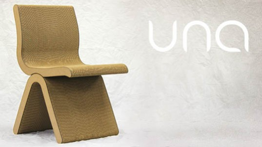 UNA, recycled materials, recycled cardboard chair, green design, sustainable design, Paul Borrero, UNA Chair, Pittsburgh, reader submitted content, green furniture