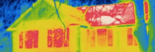 Thermal Photograph of a House