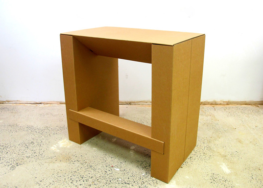 Chairigami, Cardboard Standing Desk, Zach Rotholz, recyclable furniture, origami furniture, customizable furniture, affordable standing desk
