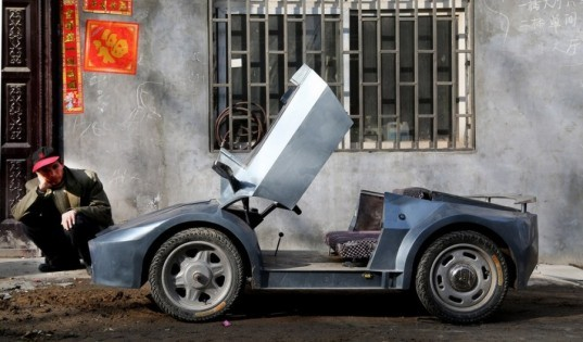 Chinese Man Builds Tiny All Electric Lamborghini To Take His