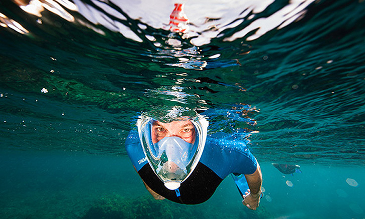 3e97e5429 The Easybreath Snorkel Mask Lets You Breathe Comfortably Through Your Nose  Underwater