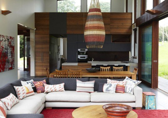 hare+klein, eco lodge, australian green architecture, green interiors, australian sustainable homes, recycled materials