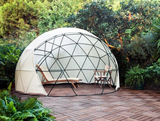 the garden igloo is a pop up geodesic dome perfect for any backyard inhabitat green design. Black Bedroom Furniture Sets. Home Design Ideas