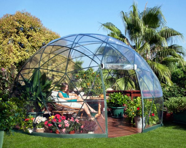 The Garden Igloo is a Pop,Up Geodesic Dome Perfect for Any