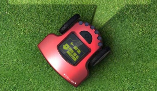 electric lawn mower, grass printer, Red Dot Design Awards, decorate your lawn, unusual lawn mowers, future lawn mowers