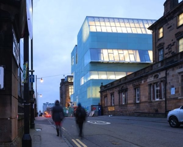 steven holl architects, jm architects, glasgow school of art, reid building, Charles Rennie Mackintosh, machair, driven voids of light, light shafts, northern light, translucent glass, glass facade, artists studios