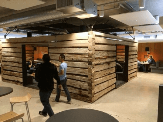 olle lundberg, green design, eco design, sustainable design, Twitter headquarters, log cabin, silicon valley, salvaged wood, recycled materials, twitter, twitter log cabins, office cabins, twitter san francisco, salvaged barns, repurposed barns