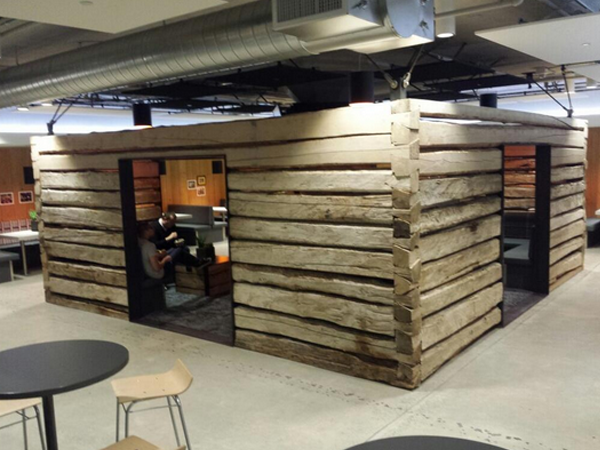 Twitter Office San Francisco In Start Slideshow Have You Seen The 19th Century Log Cabins Twitter Installed At Its