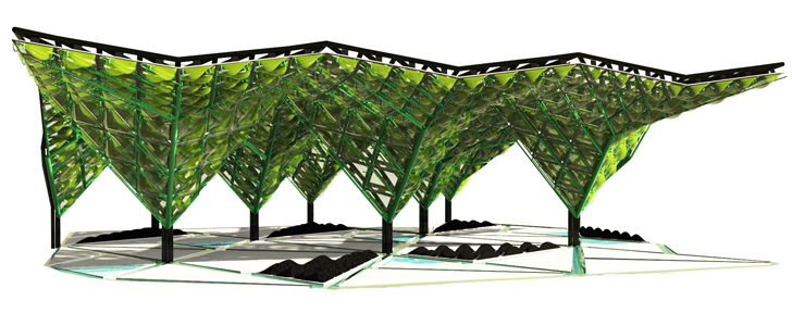 Displaying ad for 5 seconds  sc 1 st  Inhabitat & Worldu0027s First Urban Algae Canopy Produces the Oxygen Equivalent of ...