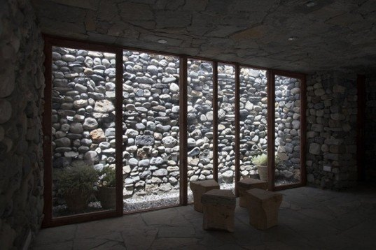 Archium, Radio Station, Mustang Broadcasting Communi (MBC), Nepal, local stone, gneiss stone, blends into the landscape, Architecture, Daylighting, Green Resources, Green Materials, stone building