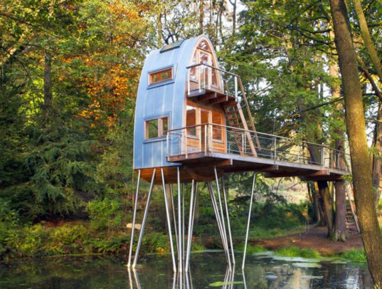 Baumraum S Long Legged Solling Treehouse 171 Inhabitat