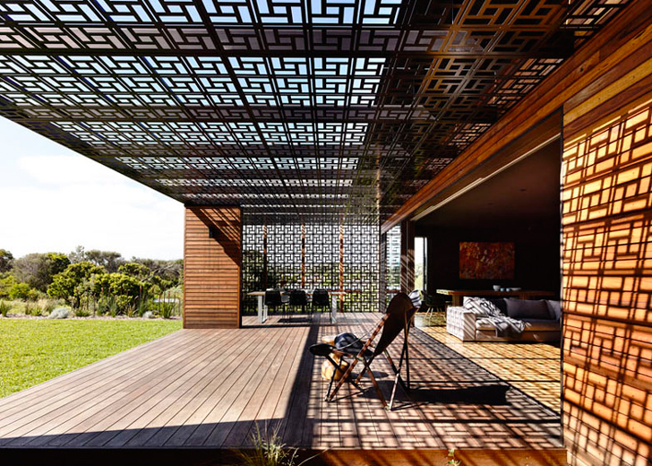 Geometric Patterned Screens, Recycled Timber, Wolveridge Architects, Mud  Brick And Breeze