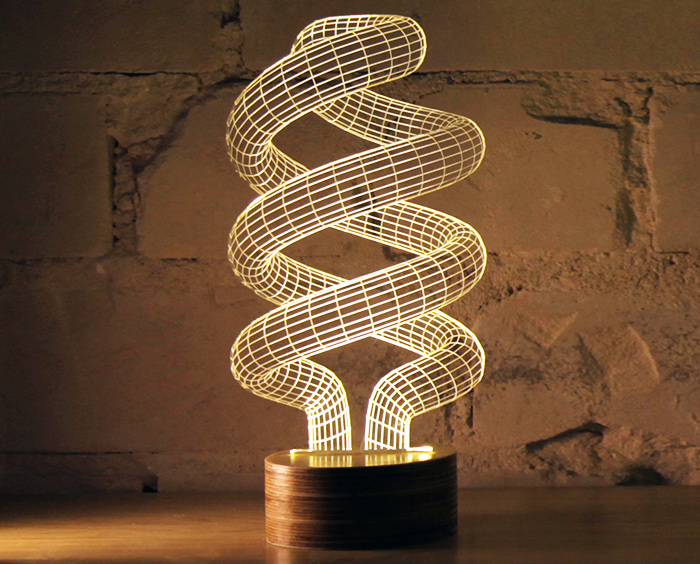 Studio Cheha's Bulbing LED Lamps Are Mind-Bending Optical ...